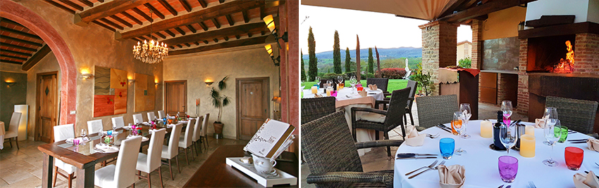 Fine dining in the beautiful Umbrian Countryside.